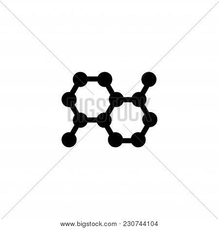Molecule. Flat Vector Icon. Simple Black Symbol On White Background