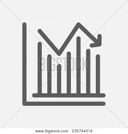 Stock Price Icon Line Symbol. Isolated Vector Illustration Of Investment Infographic Sign Concept Fo