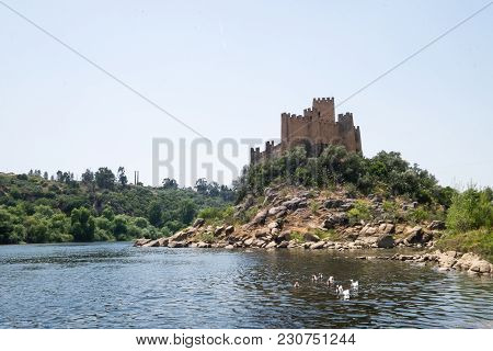 Ancient Historical Cultural Almourol Castle View Portugal