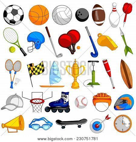 Easy To Edit Vector Illustration Of Sports Object Icon On Isolated Background