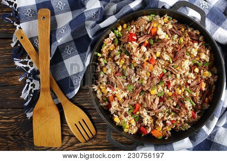 Delicious Shredded Juicy Beef And Rice