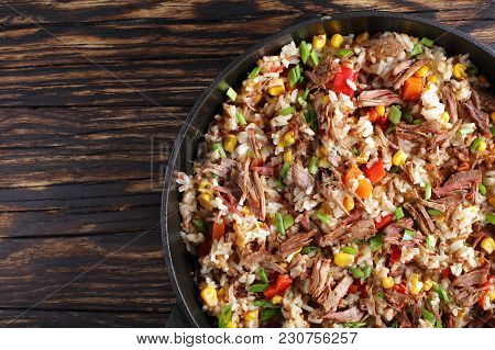Delicious Shredded Juicy Beef And Veggies