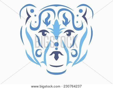 Tribal Polar Bear Illustration, Polar Bear In Tribal Style, Ornamental Polar Bear Vector Illustratio