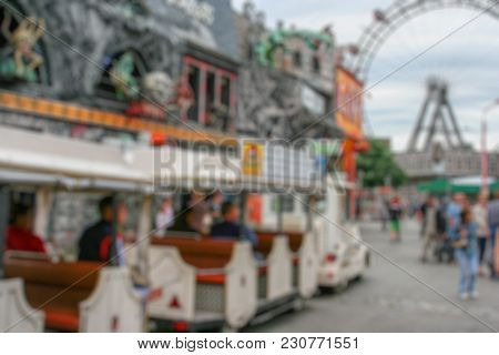 Abstract amusement park in Vienna