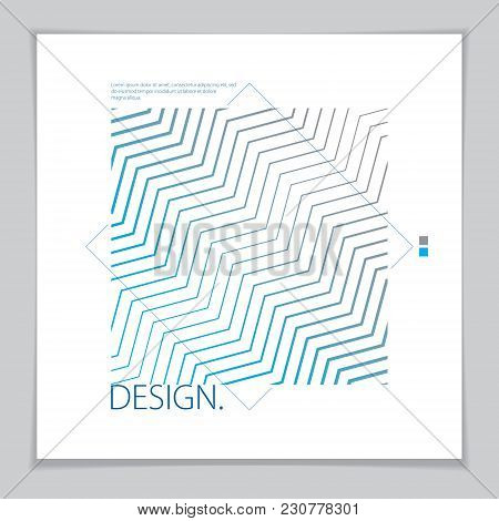 Design Template For Flyer, Booklet, Greeting Card, Invitation And Advertising. Geometric Line Patter