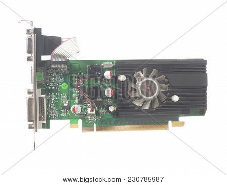 Graphic Computer Card Isolated On A White Background.