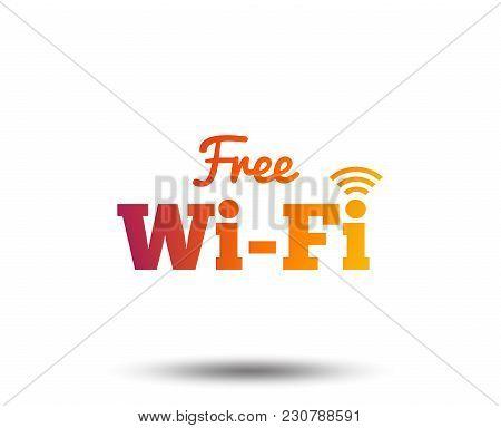 Free Wifi Sign. Wifi Symbol. Wireless Network Icon. Wifi Zone. Blurred Gradient Design Element. Vivi