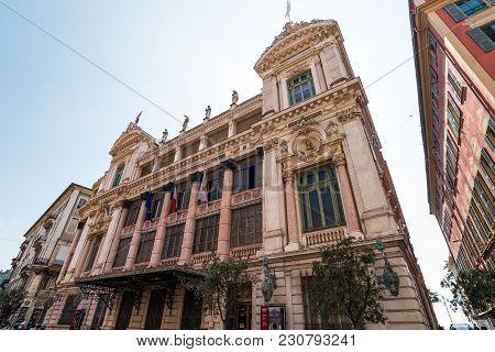 Nice, France - September 2017: Opera House In City Of Nice.