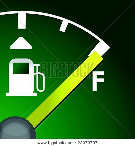 closeup Full eco green gas tank detail illustration