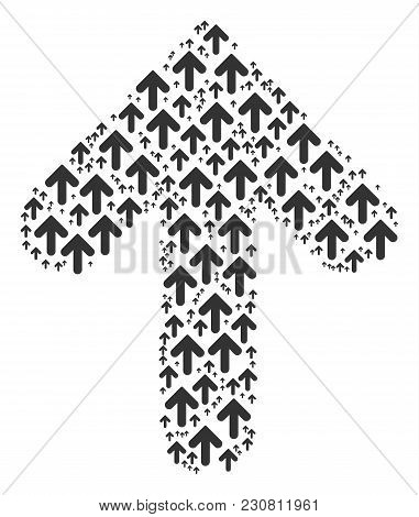 Arrow Direction Pattern Created In The Collection Of Arrow Direction Icons. Vector Iconized Collage