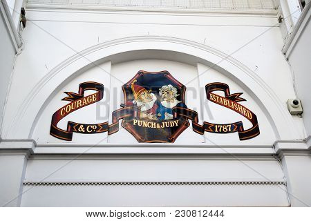 London, United Kingdom, 7th March 2018:-the Punch And Judy Pub In Covent Garden Opened In 1787