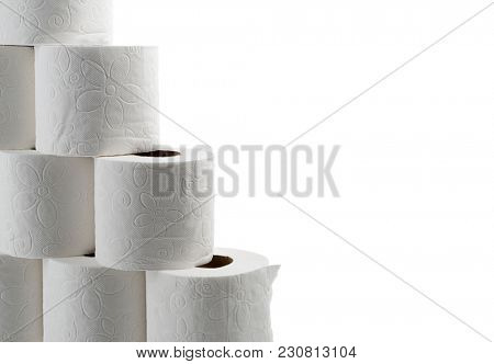 Toilet papers with space for your text.