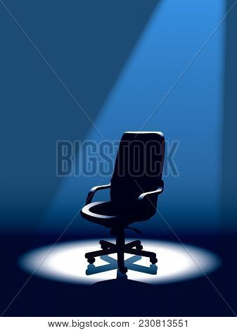Rat Race. Empty Chair Is Waiting For The Winner In The Competition For A Good Position In The Compan