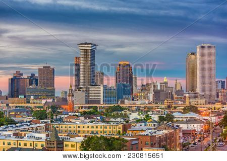 New Orleans, Louisiana, USA downtown skyline.