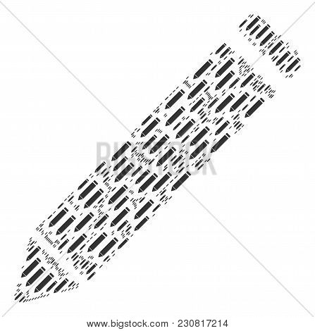 Edit Pencil Figure Organized In The Collection Of Edit Pencil Design Elements. Vector Iconized Colla