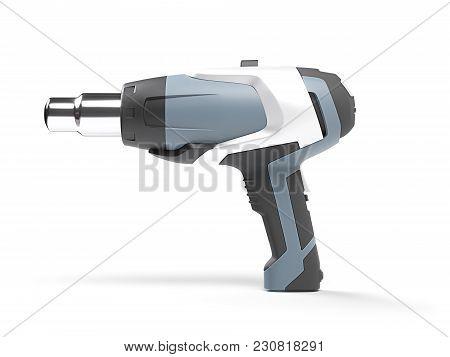 Modern Heat Gun Isolated On White Background. 3d Illustration