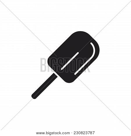 Ice Cream Icon. Silhouette Illustration Of Chocolate Ice Cream In Stock Vector Icon For Web And Adve