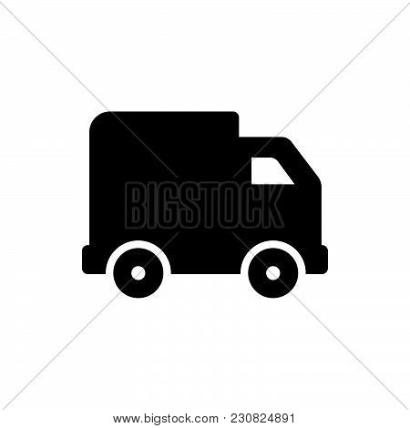 Truck Icon Isolated On White Background. Truck Icon Modern Symbol For Graphic And Web Design. Truck