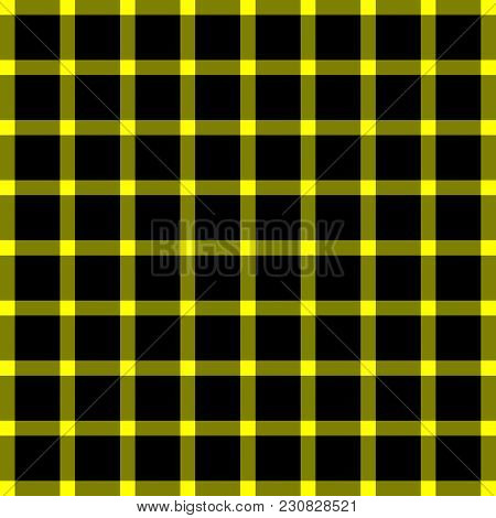 Scottish Black And Yellow Cage, Black And Yellow Celtic. Background In A Cage. Vector Illustration