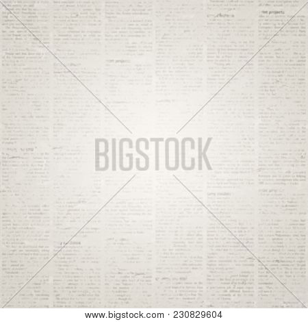 Old Grunge Newspaper Paper Texture Square Background Blurred Vintage Blur Textured Page With Place For Text Or Image