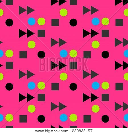 Vintage Play Fast Forward Seamless Pattern. Suitable For Screen, Print And Other Media.