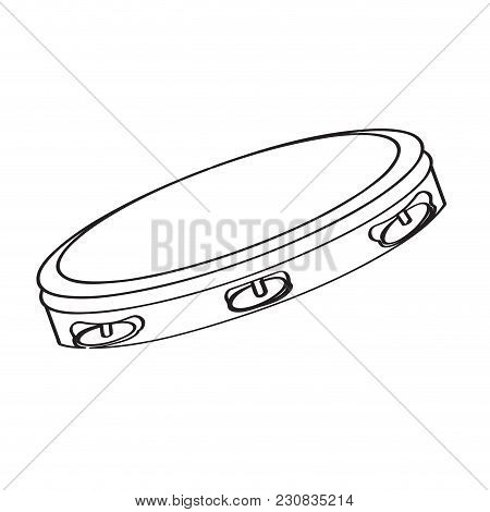 Isolated Tambourine Icon. Musical Instrument. Vector Illustration Design