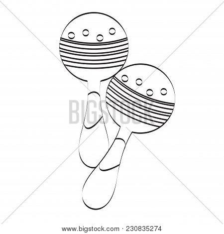 Pair Of Maracas Icon. Musical Instrument. Vector Illustration Design