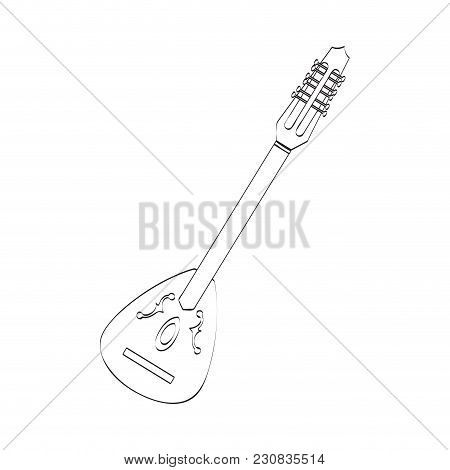 Isolated Laud Icon. Musical Instrument. Vector Illustration Design