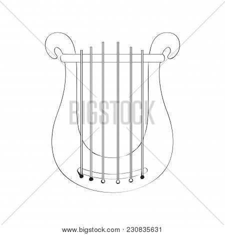 Isolated Lyre Icon. Musical Instrument. Vector Illustration Design