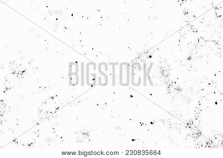 Black And White Grunge Urban Texture With Copy Space. Abstract Surface Dust And Rough Dirty Wall Bac