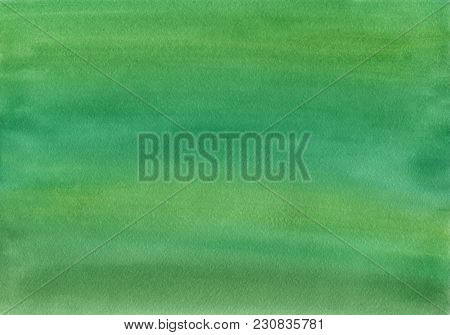 Clean Green Watercolor Background Uniform Mixing Of Yellowish Green, Yellow Cadmium Medium And Chrom