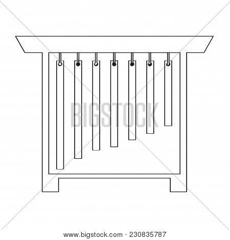 Isolated Tubular Bell Icon. Musical Instrument. Vector Illustration Design