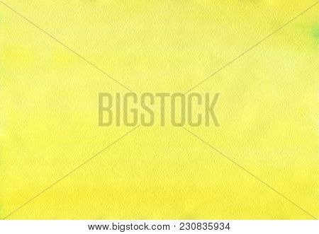 Clean Yellow Watercolor Background Uniform Mixing Of Cadmium Yellow Lemon And Hanza Yellow