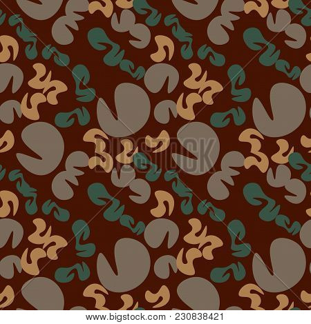 Creatures Bird Eye View Seamless Pattern. Suitable For Screen, Print And Other Media.