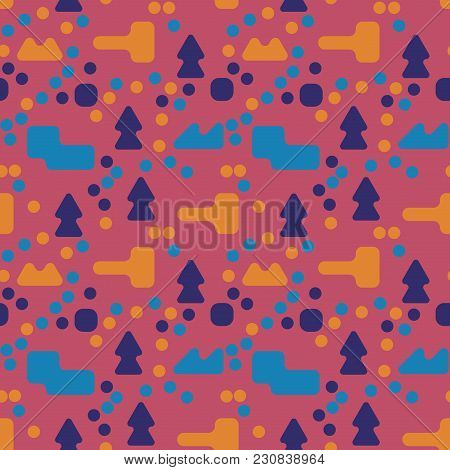 Stranger Landscape Abstract Seamless Pattern. Suitable For Screen, Print And Other Media.