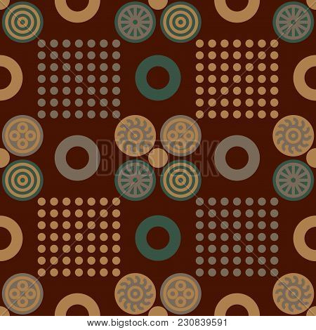 Chinese Regular Seamless Pattern. Authentic Design For Digital And Print Media.