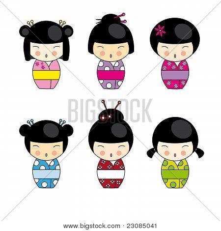 Muñecas kokeshi