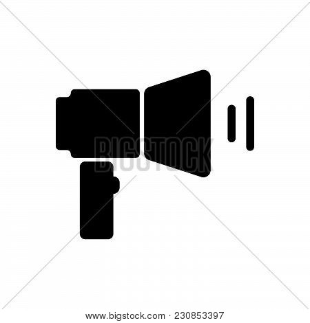 Megaphone Vector Icon On White Background. Megaphone Modern Icon For Graphic And Web Design. Megapho