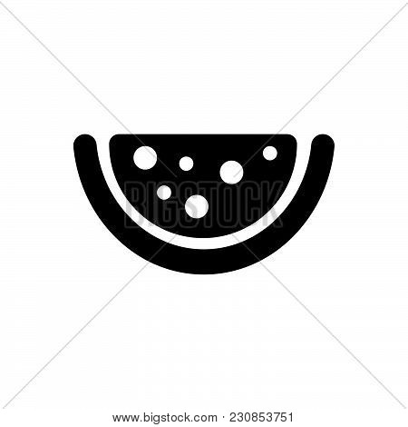 Watermelon Vector Icon On White Background. Watermelon Modern Icon For Graphic And Web Design. Water