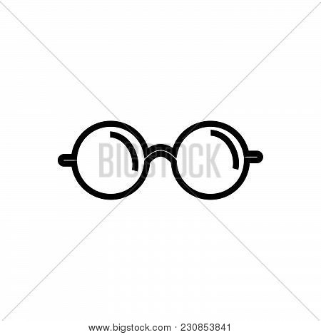 Glasses Vector Icon On White Background. Glasses Modern Icon For Graphic And Web Design. Glasses Ico