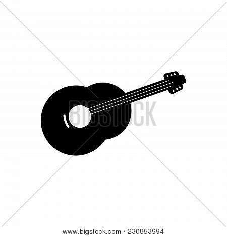 Guitar Vector Icon On White Background. Guitar Modern Icon For Graphic And Web Design. Guitar Icon S