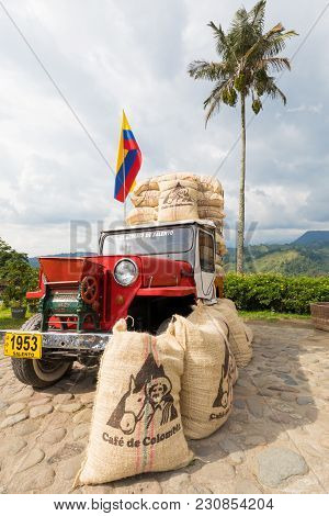 Salento March 2018 This Willys Jeeps Of The 60s Is Used By Colombians Who Live In The Coffe Producti