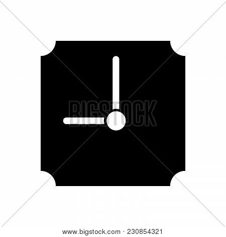 Clock Vector Icon On White Background. Clock Modern Icon For Graphic And Web Design. Clock Icon Sign