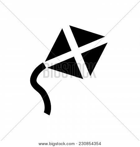 Kite Vector Icon On White Background. Kite Modern Icon For Graphic And Web Design. Kite Icon Sign Fo