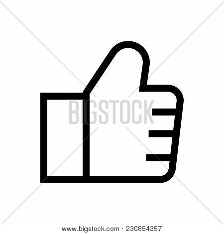 Thumb Up Vector Icon On White Background. Thumb Up Modern Icon For Graphic And Web Design. Thumb Up