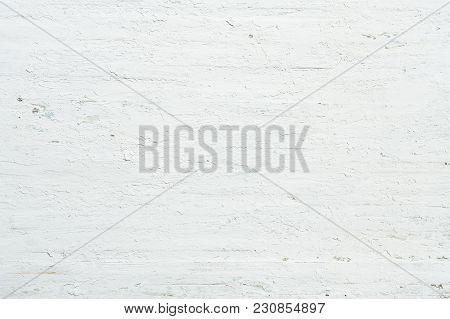 Grunge Background. Grunge White Peeling Painting On Old Painted Wood Texture Background.
