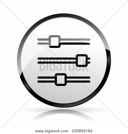 Illustration Of Sliders Icon On White Background
