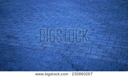 Wet stone. Wet road