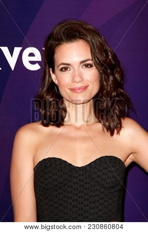 Torrey DeVitto arrives at the 2018 NBCUniversal Winter Press Tour at The Langham Huntington Hotel in Pasadena, California on January 9, 2018.