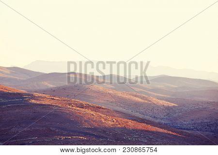 Atlas Mountain landscapes in Morocco